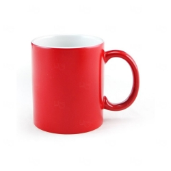 Caneca De Cerâmica Clássica Personalizada - 300 ml Vermelho