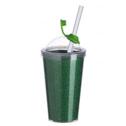 Copo de Acrílico com Canudo Personalizado - 550ml Verde