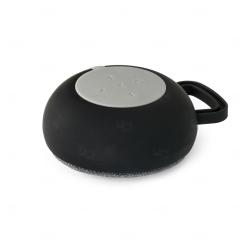Caixa de Som com Microfone Personalizado Prata Preto