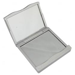 Espelho Plástico Duplo Personalizado Prata
