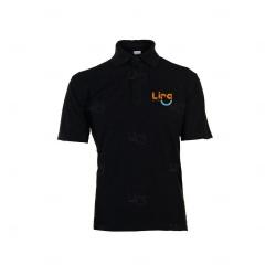 Camisa Polo Unissex Personalizada Preto