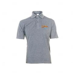 Camisa Polo Unissex Personalizada Cinza Claro