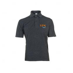 Camisa Polo Unissex Personalizada Cinza