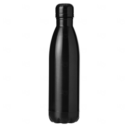 Garrafa Inox Brilhante Personalizada - 750 ml Preto