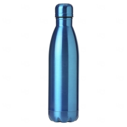 Garrafa Inox Brilhante Personalizada - 750 ml Azul