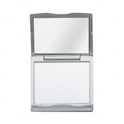 Espelho Duplo com Aumento Personalizado Prata