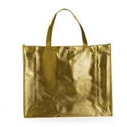 Sacola de TNT Metalizada Personalizada Dourado
