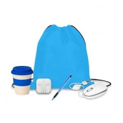 Kit Home Office Básico Personalizado - 5 Peças Azul Claro