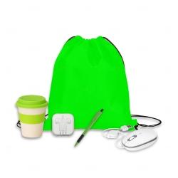 Kit Home Office Básico Personalizado - 5 Peças Verde