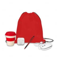 Kit Home Office Básico Personalizado - 5 Peças Vermelho