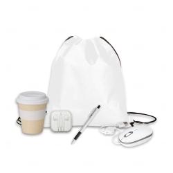 Kit Home Office Básico Personalizado - 5 Peças Branco