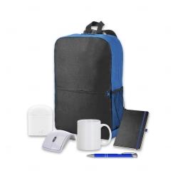 Kit Home Office Premium Personalizado - 6 peças Azul