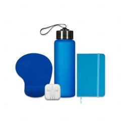 Kit Home Office Personalizado - 4 Peças Azul