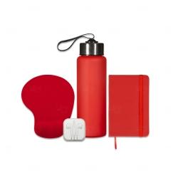 Kit Home Office Personalizado - 4 Peças Vermelho
