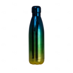 Garrafa Inox Degradê Personalizada - 500ml Verde