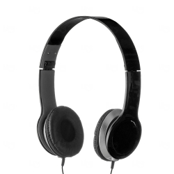 Fone de Ouvido Estéreo Personalizado Preto