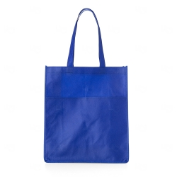 Sacola de TNT c/ Bolso Personalizada - 40x35 cm Azul