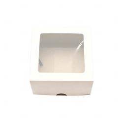 Caixa para Brinde Corporativo - 11 cm x 11 cm Branco
