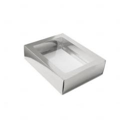 Caixa para Brinde Corporativo - 12,5 cm x 9 cm Prata