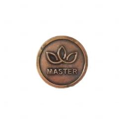 Pin em Aço Escovado Personalizado Bronze