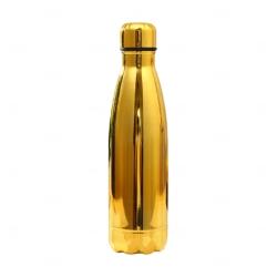 Garrafa Inox Brilhante Personalizada - 500 ml Dourado