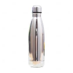 Garrafa Inox Brilhante Personalizada - 500 ml Prata