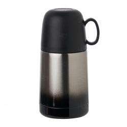 Garrafa Térmica Degradê Personalizada - 250 ml Prata Preto