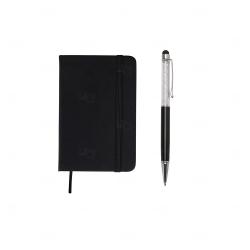 Moleskine c/ Caneta Touch Personalizado -14x9 cm Preto