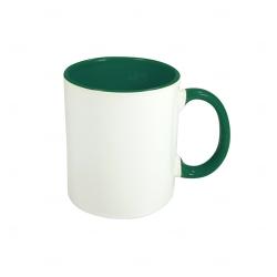 Caneca Cerâmica Fundo Colorido Personalizada - 325 ml Verde Escuro