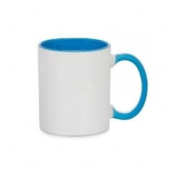 Caneca Cerâmica Fundo Colorido Personalizada - 325 ml Azul Claro