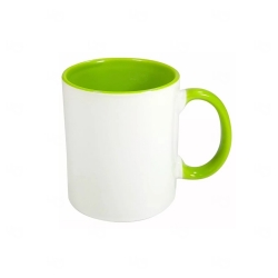 Caneca Cerâmica Fundo Colorido Personalizada - 325 ml Verde