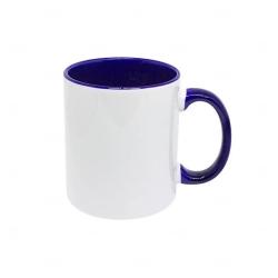 Caneca Cerâmica Fundo Colorido Personalizada - 325 ml Azul Marinho