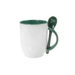 Caneca Personalizada  c/ Colher - 325 ml Verde Escuro