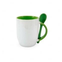 Caneca Personalizada  c/ Colher - 325 ml Verde