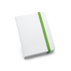 Caderneta tipo Moleskine Personalizada - 14x9 cm Verde Claro
