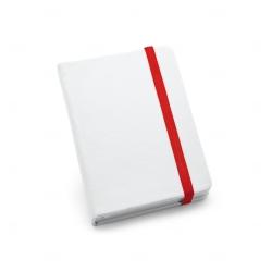 Caderneta tipo Moleskine Personalizada - 14x9 cm Vermelho