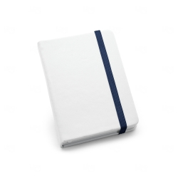 Caderneta tipo Moleskine Personalizada - 14x9 cm Azul Marinho