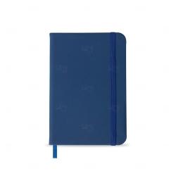 Caderneta tipo Moleskine Personalizada - 14,2x9,1 cm Azul