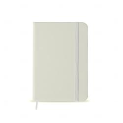 Caderneta tipo Moleskine Personalizada - 14,2x9,1 cm Branco