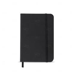 Caderneta tipo Moleskine Personalizada - 14,2x9,1 cm Preto