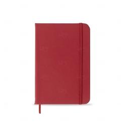 Caderneta tipo Moleskine Personalizada - 14,2x9,1 cm Vermelho