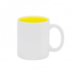 Caneca Cerâmica Fundo Colorido Personalizada - 325ml Amarelo