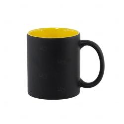 Caneca Mágica Fundo Colorido Personalizada -  325 ml Amarelo