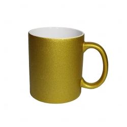 Caneca Glitter Personalizada - 325 ml Dourado
