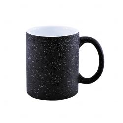 Caneca Mágica Glitter Personalizada - 325 ml Preto