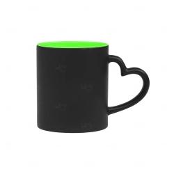 Caneca Mágica Alça Coração Personalizada - 325 ml Verde