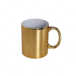 Caneca Metalizada Personalizada - 325 ml Dourado