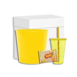Kit Cinema 3 Personalizado - 4 Peças Amarelo