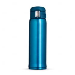 Garrafa Térmica de Metal Personalizada - 450ml Azul Claro