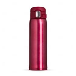 Garrafa Térmica de Metal Personalizada - 450ml Vermelho